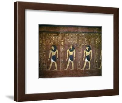 Sarcophagus of Tuthmosis IV, Ancient Egyptian, 18th dynasty, c1400-1390 BC-Werner Forman-Framed Giclee Print