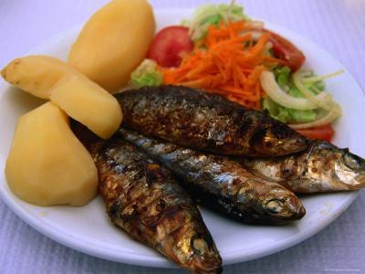 Sardinhas Gerlhadas, a Favourite Meal in Portugal, Cascais, Estremadura, Portugal-Anders Blomqvist-Photographic Print