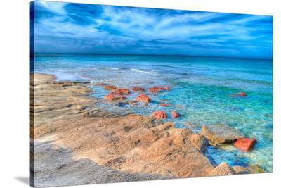 Sardinia Foreshore Coast View--Stretched Canvas Print