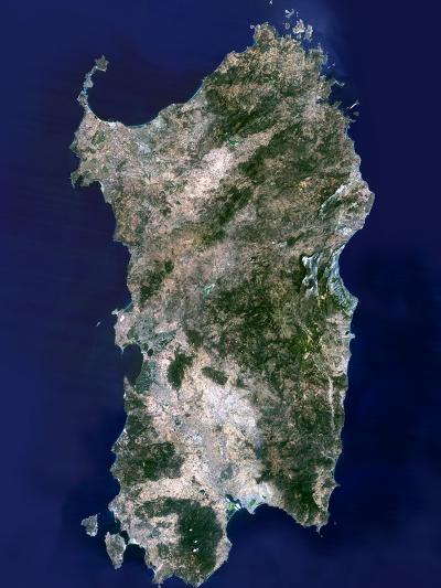 Sardinia, Satellite Image-PLANETOBSERVER-Photographic Print