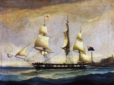 Sardinian Frigate from the 2nd Half of 19th Century, Painting, Italy, 19th Century--Giclee Print
