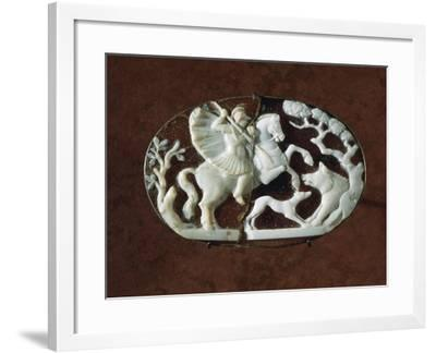 Sardonyx Cameo with Scene of Wild Boar Hunting--Framed Giclee Print