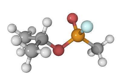 Sarin Nerve Gas Molecule-Laguna Design-Photographic Print