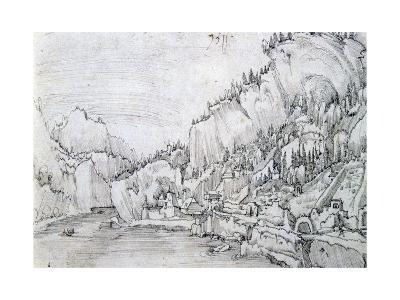 Sarmingstein on the Danube, 16th Century-Albrecht Altdorfer-Giclee Print