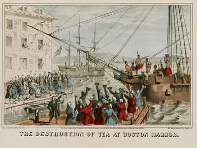 Destruction of Tea in Boston Harbor by Sarony & Major
