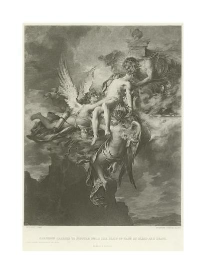 Sarpedon Carried to Jupiter from the Plain of Troy by Sleep and Death-Henri Leopold Levy-Giclee Print
