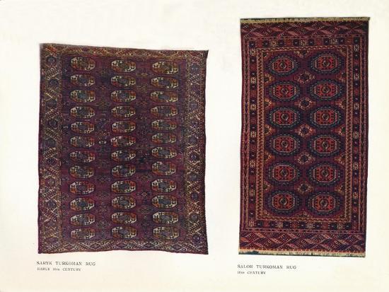 Saryk Turkoman rug, early 18th century and Salor Turkoman rug, 18th century-Unknown-Giclee Print
