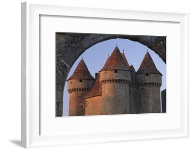 Sarzay Chateau with Pepperpot Turrets, Berry-Joe Cornish-Framed Photographic Print