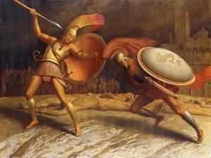 Achillies and Hercules, 1923-1926 by Sascha Schneider