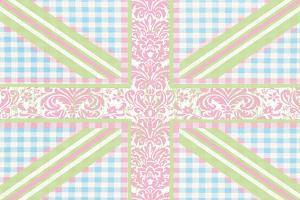 Union Jack, Blue, Green and Pink by Sasha Blake