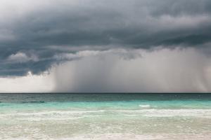 Rain Storm over the Ocean and Beach by Sasha Weleber
