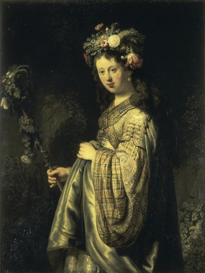 Saskia as Flora-Rembrandt van Rijn-Giclee Print