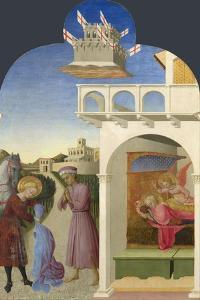 Saint Francis and the Poor Knight, and Francis's Vision, 1437-1444 by Sassetta