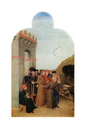 Miracles: the Legend of the Wolf of Gubbio, C1437-1444 by Sassetta Sassetta
