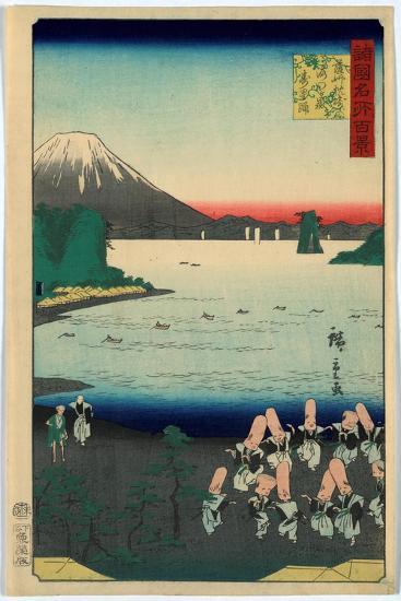 Sasshu Makurazaki Kaimongadake Jusei Odori-Utagawa Hiroshige-Giclee Print