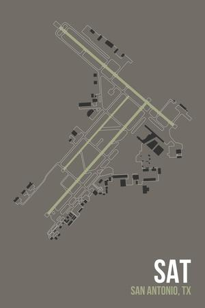 SAT Airport Layout-08 Left-Giclee Print
