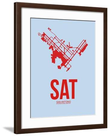 SAT San Antonio Airport 2-NaxArt-Framed Art Print