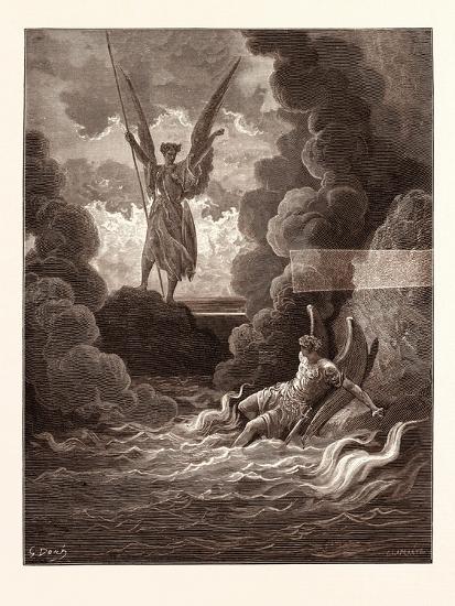Satan and Beelzebub-Gustave Dore-Giclee Print