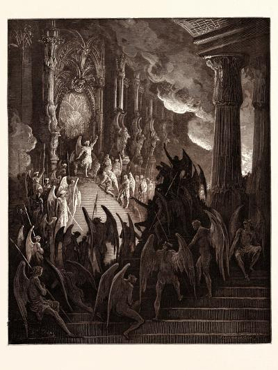 Satan in Council-Gustave Dore-Giclee Print