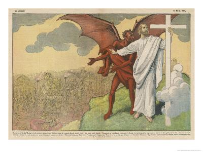Satan Offers Jesus All Kinds of Nice Things if He Will Only Renounce His Mission: But He Refuses-Eugene Damblans-Giclee Print