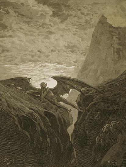 Satan Resting on the Mountain-Gustave Dor?-Giclee Print