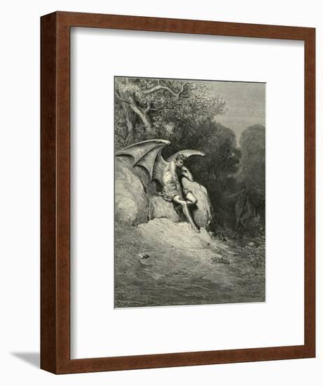 Satan Schemes-Gustave Doré-Framed Giclee Print