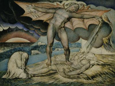 Satan Smiting Job with Sore Boils-William Blake-Giclee Print