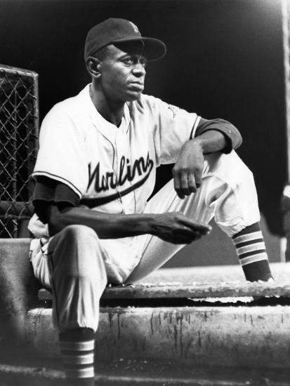 Satchel Paige in His Miami Marlins Uniform, August 15, 1958--Photographic Print
