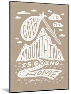 Muir Illustrated Quote Poster by Satchel & Sage