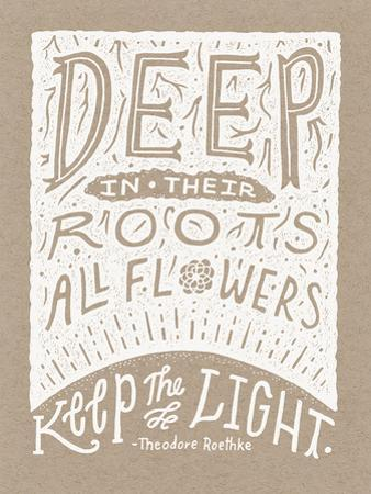 Roethke Illustrated Quote Poster by Satchel & Sage