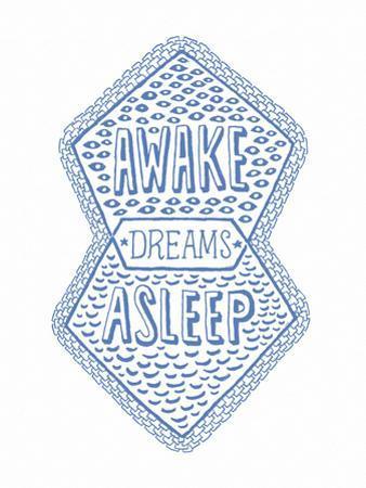 Venn by Pen: Awake, Asleep, Dreams Poster by Satchel & Sage