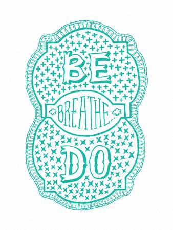 Venn by Pen: Be, Do, Breathe Poster