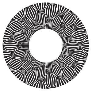 Cool B And W Circular Pattern by satel