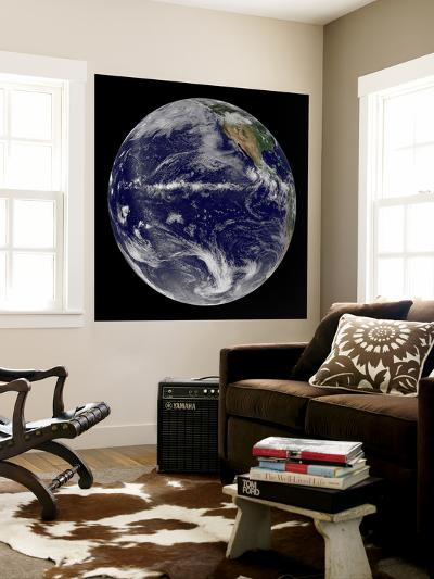 Satellite Image of Earth Centered over the Pacific Ocean-Stocktrek Images-Wall Mural