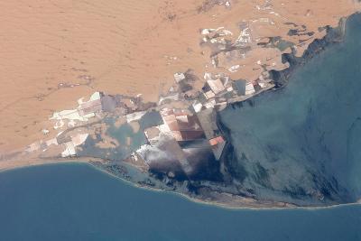 Satellite view of Bardawil Lake, North Sinai Governorate, Egypt--Photographic Print