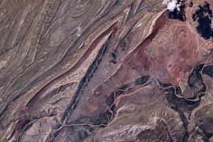 Satellite view of Big Horn, Wyoming, USA