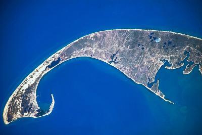 Satellite view of Cape Cod National Seashore area in North Atlantic Ocean, Massachusetts, USA--Photographic Print