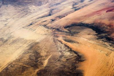Satellite view of desert area, New Valley Governorate, Egypt,--Photographic Print