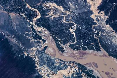 Satellite view of estuary, Camballin, Western Australia, Australia--Photographic Print