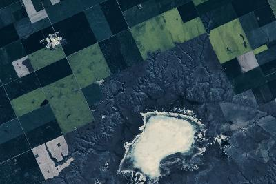 Satellite view of fields near Bladworth, Saskatchewan, Canada--Photographic Print