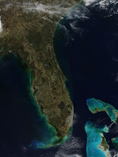 Satellite View of Florida--Photographic Print