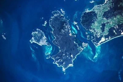Satellite view of Furneaux Group islands, Tasmania, Australia
