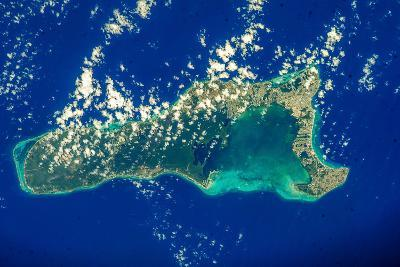 Satellite view of Grand Cayman--Photographic Print