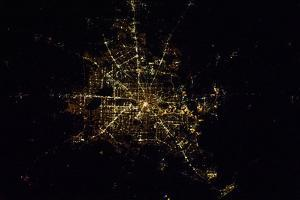 Satellite view of Houston, Texas, USA