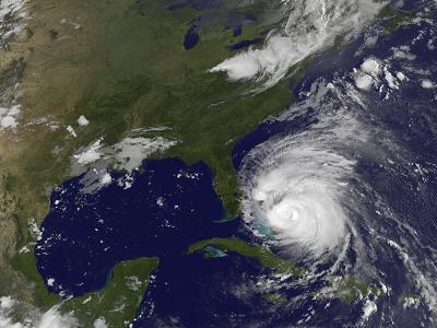 Satellite View of Hurricane Irene-Stocktrek Images-Photographic Print