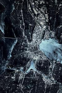 Satellite view of Seattle, Washington State, USA