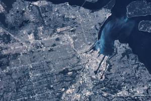 Satellite view of Tacoma, Pierce County, Washington State, USA