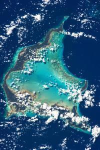 Satellite view of Turks and Caicos Islands