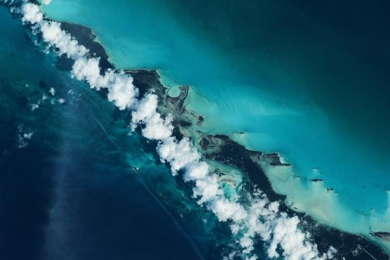 Satellite view of Turks and Caicos Islands--Photographic Print