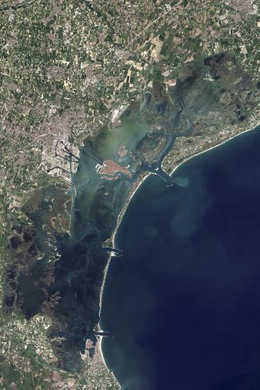Satellite View of Venice and the Venetian Lagoon--Photographic Print
